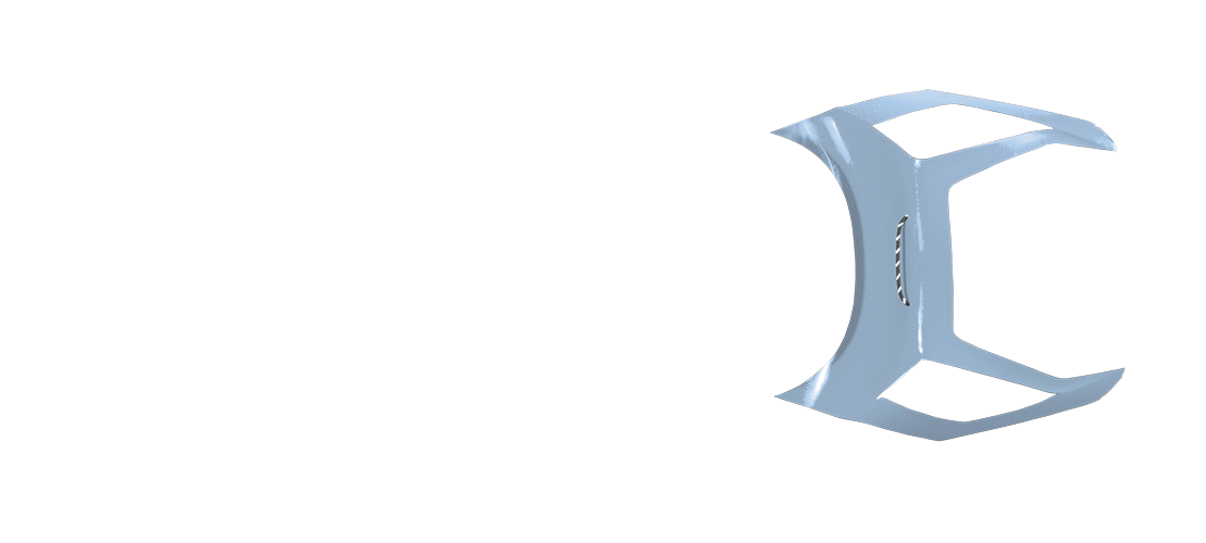 panel b in baby blue color, top view