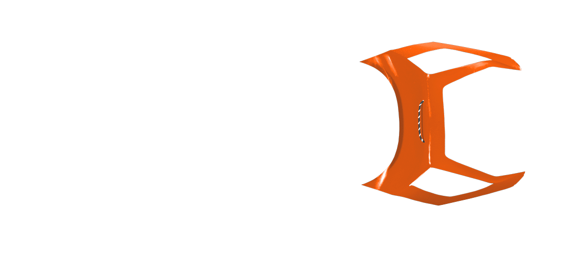 panel b in pure orange color, top view