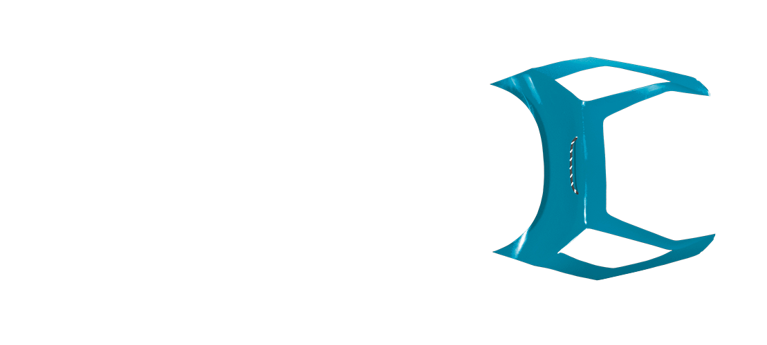 panel b in turquoise color, top view