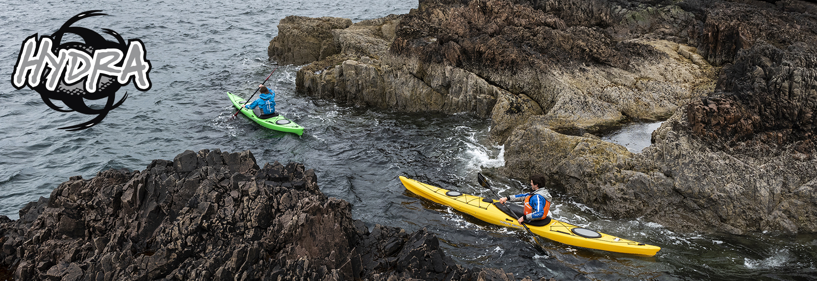 kayakers using hydra kayaks
