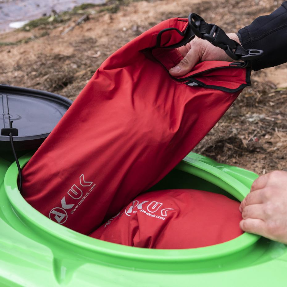 Large oval hatch on the stern makes it easy to pack your gear for an overnight or extended river trip.