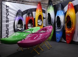 wavesport kayaks on display